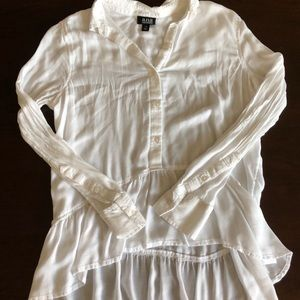 Ana ruffle button up